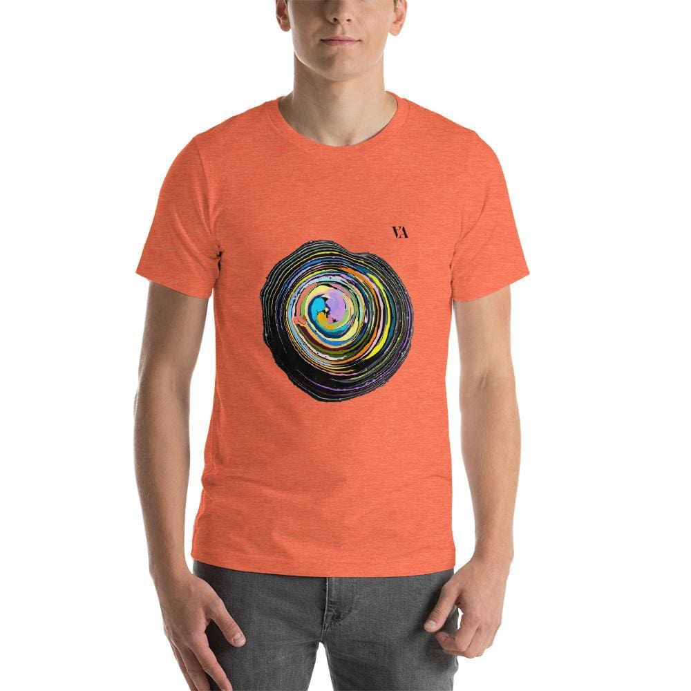 Shock Wave Short-Sleeve Mens T-Shirt - Heather Orange / S - Tshirt