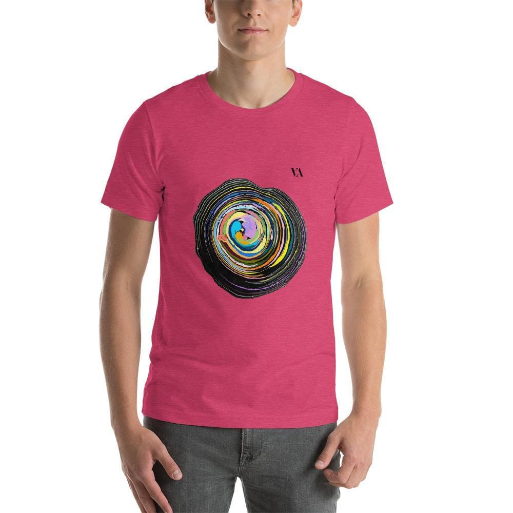 Shock Wave Short-Sleeve Mens T-Shirt - Heather Raspberry / S - Tshirt