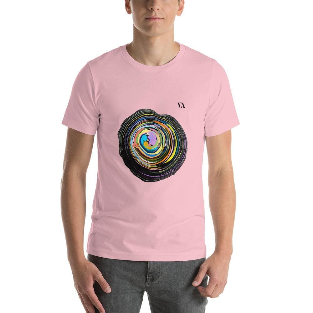 Shock Wave Short-Sleeve Mens T-Shirt - Pink / S - Tshirt