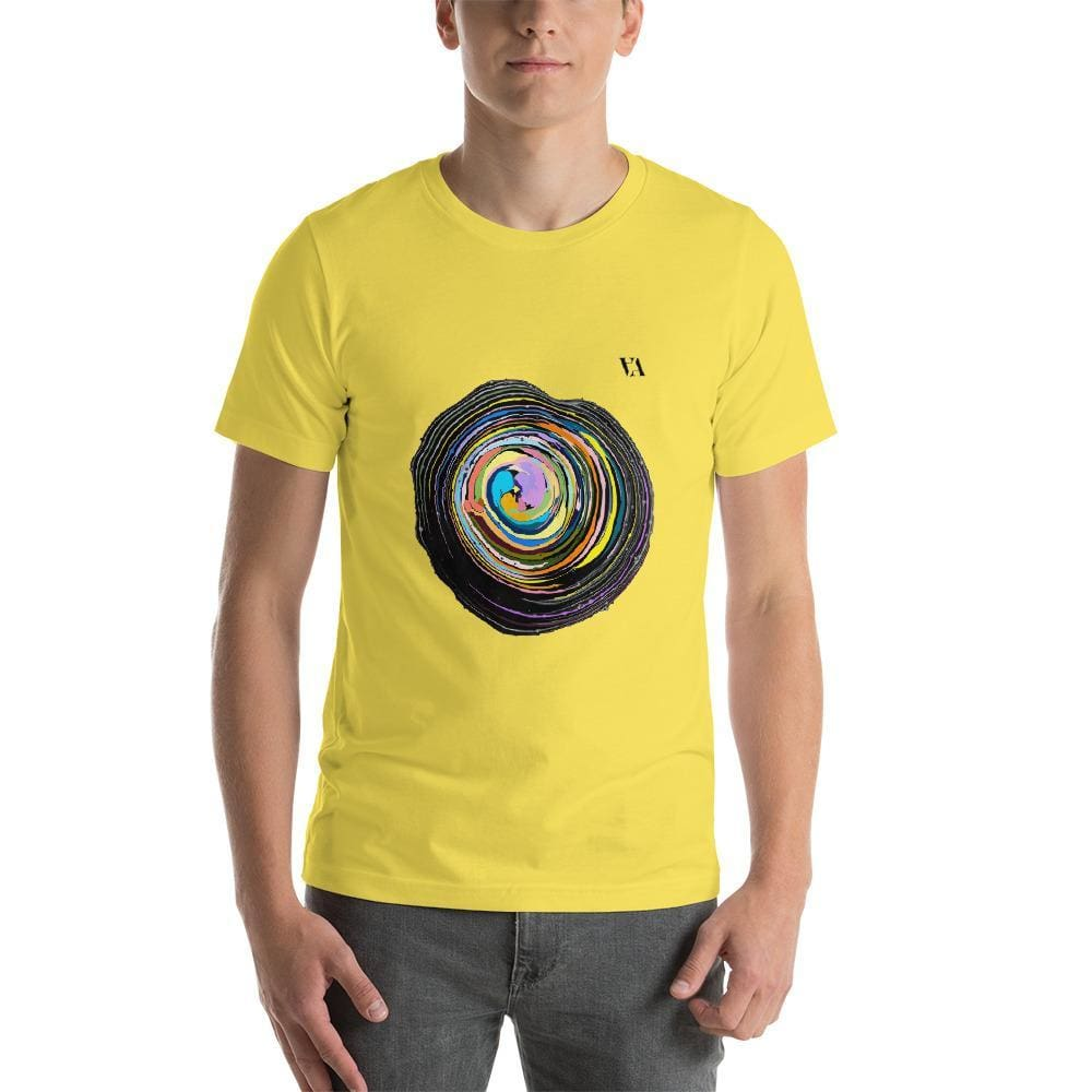 Shock Wave Short-Sleeve Mens T-Shirt - Yellow / S - Tshirt
