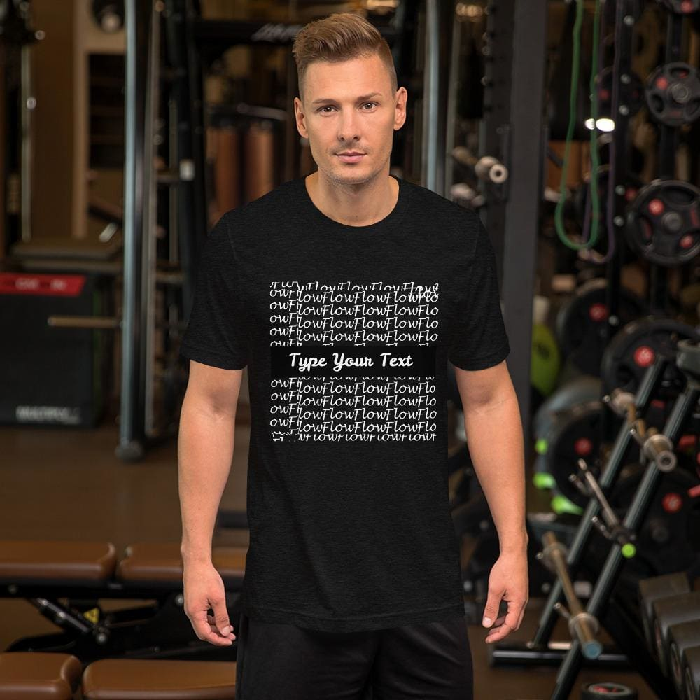 Short-Sleeve Mens T-Shirt Flow Background - Black Heather / Xs - Clothing T-Shirts