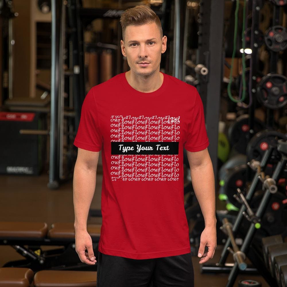 Short-Sleeve Mens T-Shirt Flow Background - Red / S - Clothing T-Shirts
