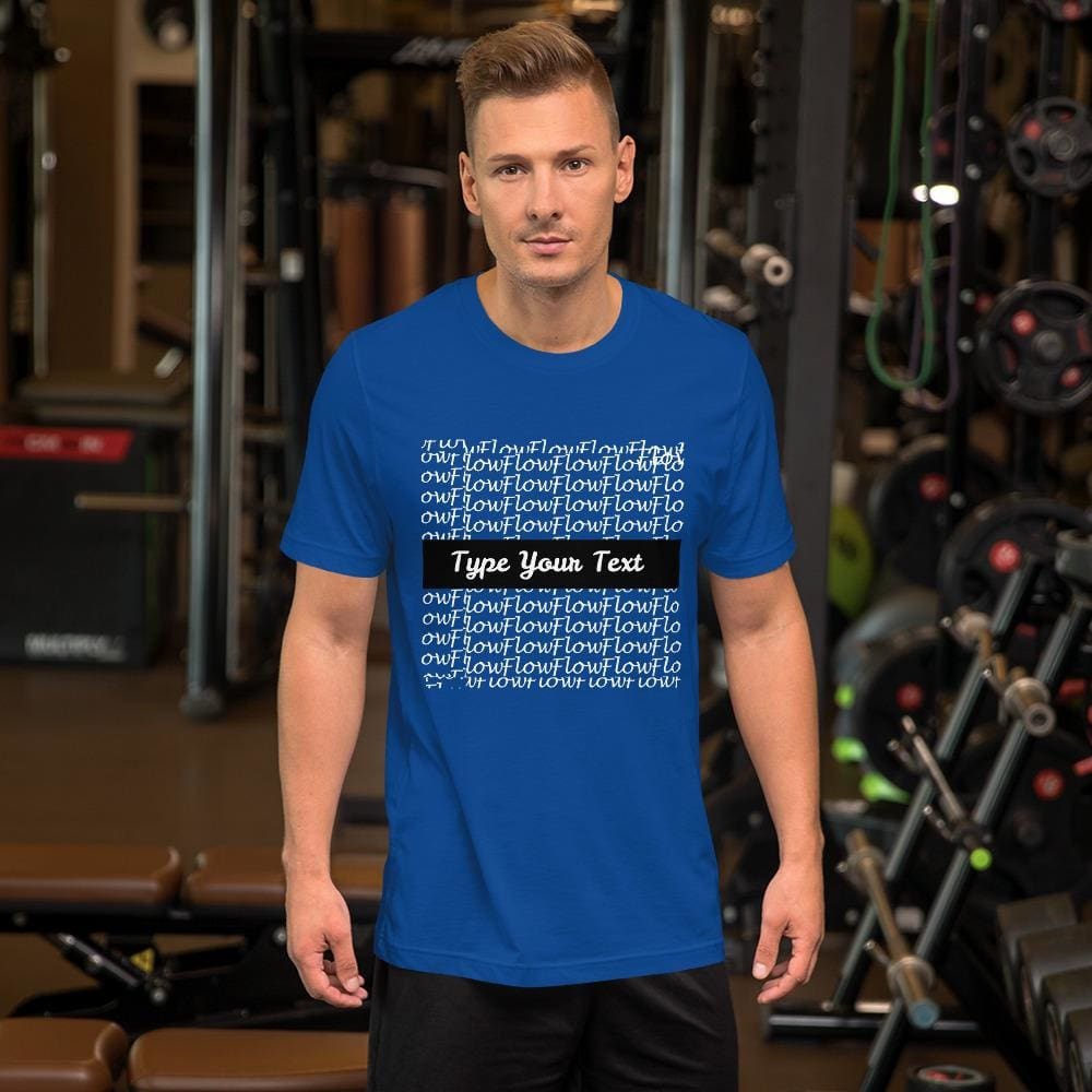 Short-Sleeve Mens T-Shirt Flow Background - True Royal / S - Clothing T-Shirts
