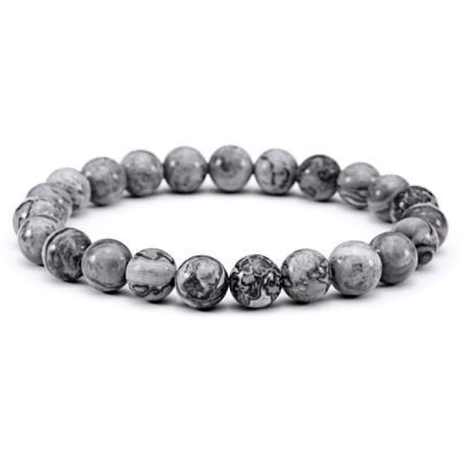 The Fitzrovia Mens Stone Bracelet - Gray - Bracelet