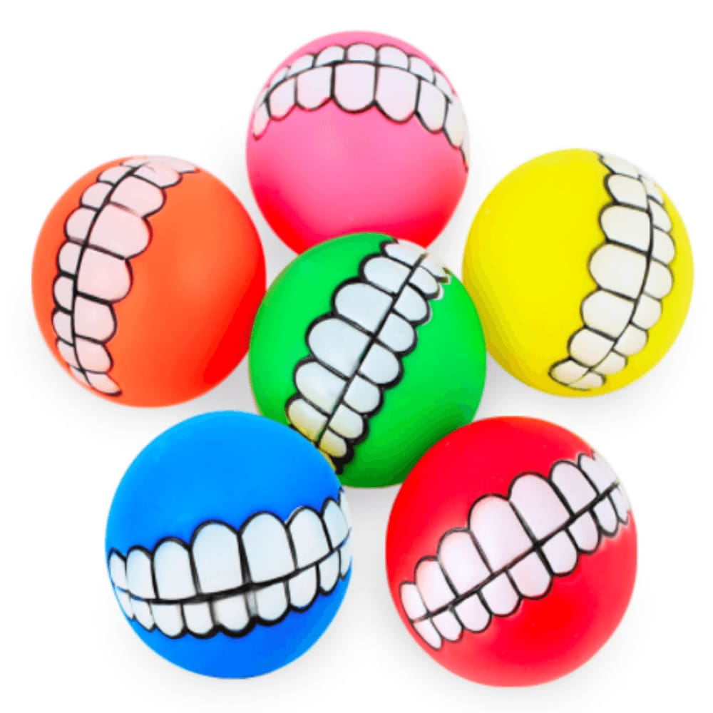 The Smiley Dog Balls - Dog Toys, Squeaky ball for dogs, French bulldog toys