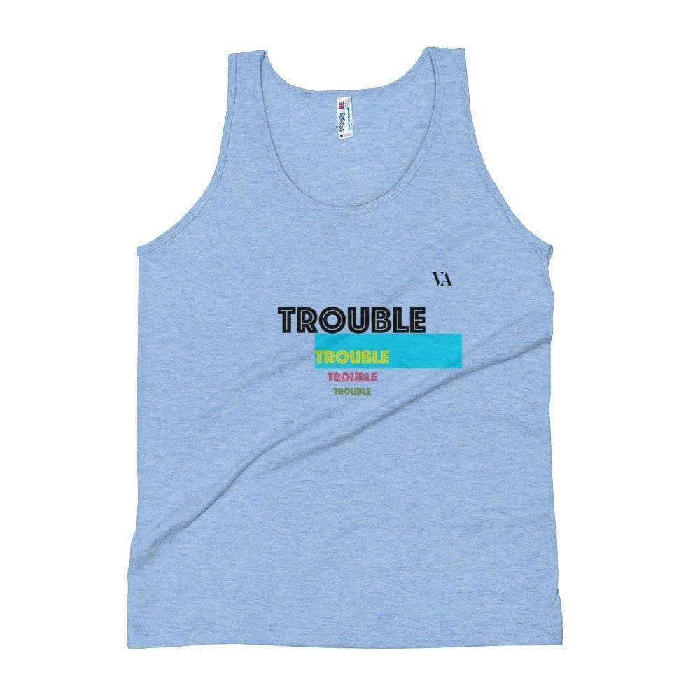 Trouble Trouble Trouble Unisex Tank Top - Athletic Blue / Xs - Tank Top