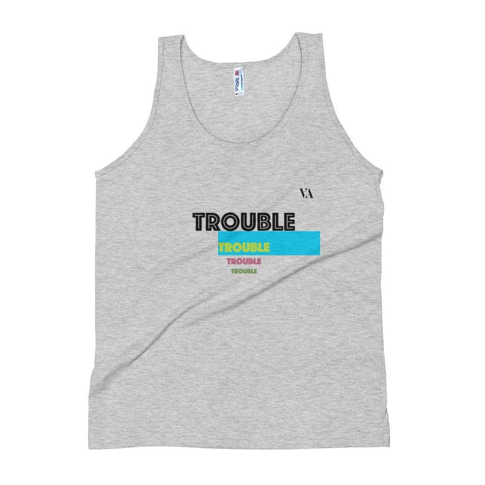 Trouble Trouble Trouble Unisex Tank Top - Athletic Grey / Xs - Tank Top