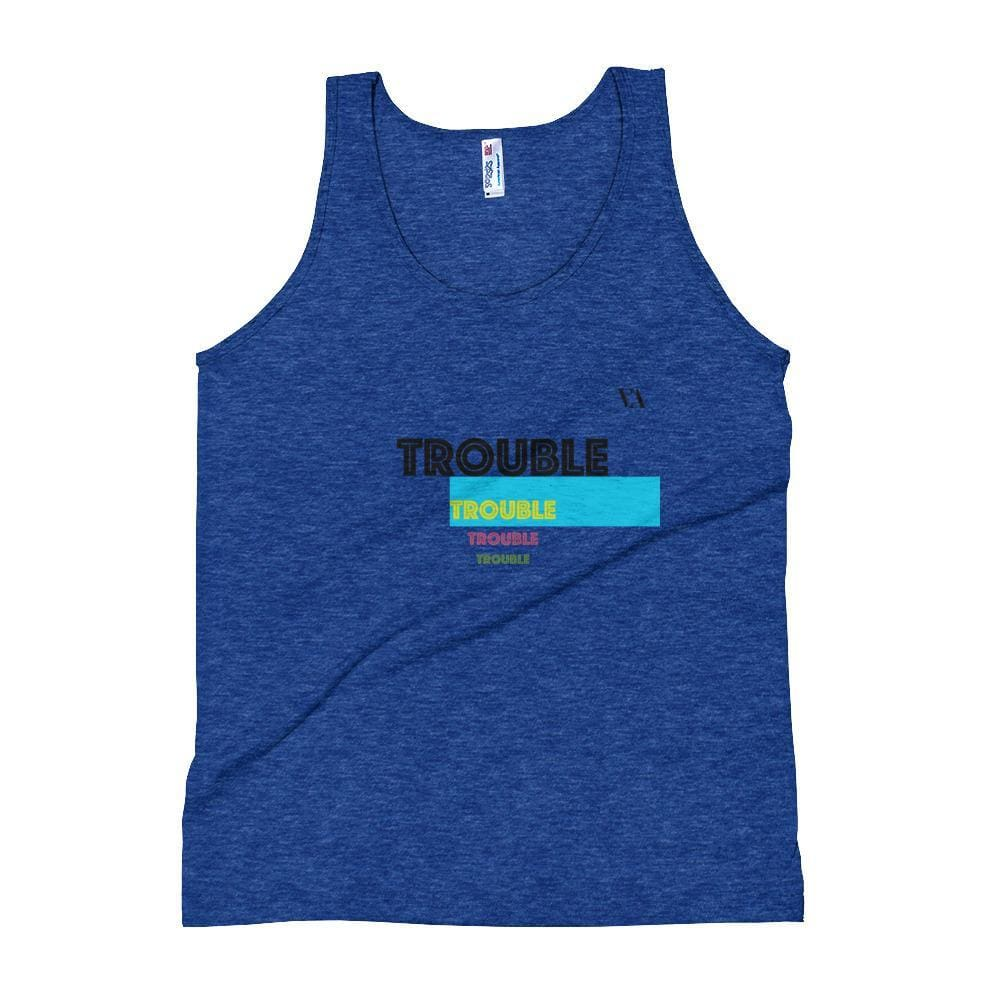 Trouble Trouble Trouble Unisex Tank Top - Tri-Indigo / Xs - Tank Top