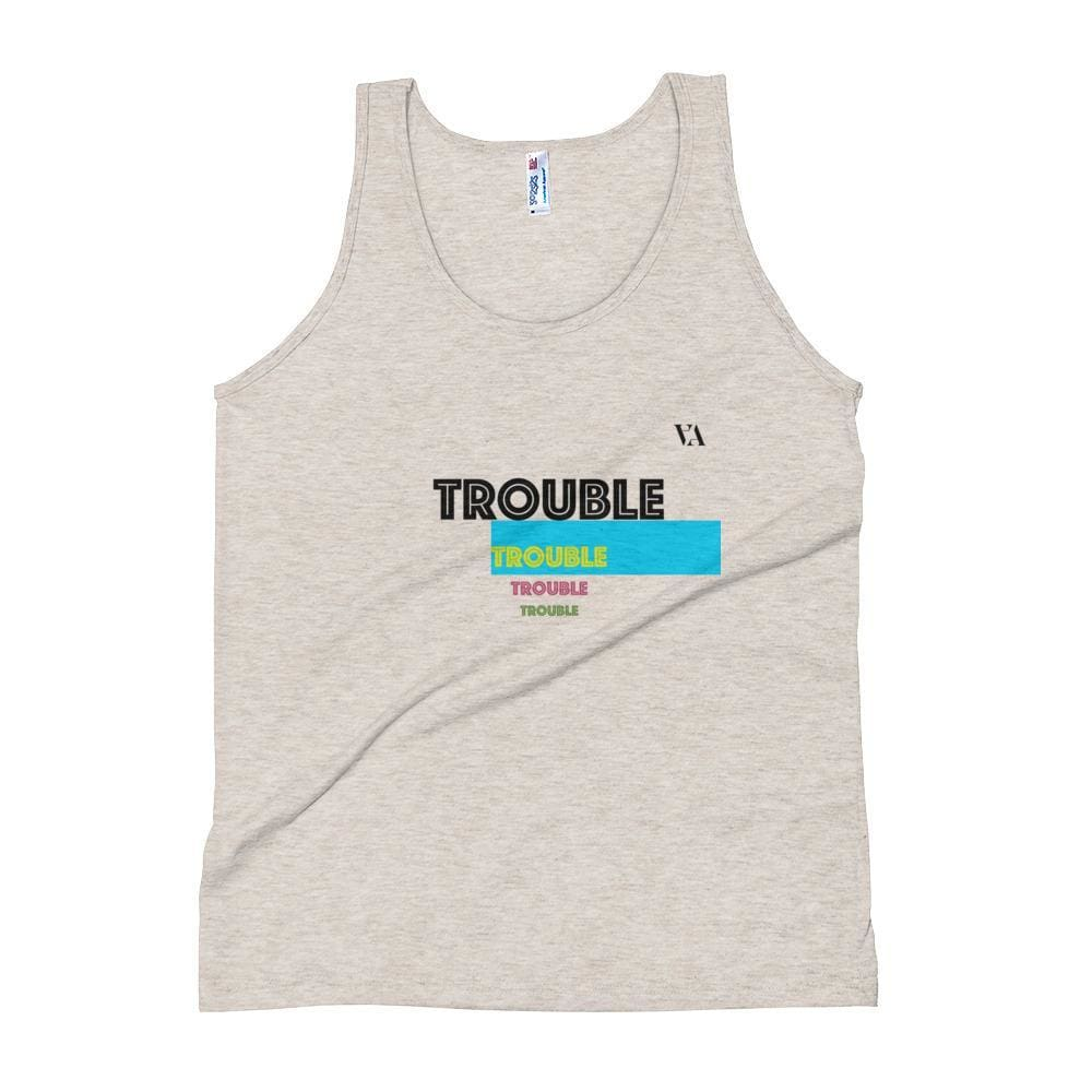 Trouble Trouble Trouble Unisex Tank Top - Tri-Oatmeal / Xs - Tank Top