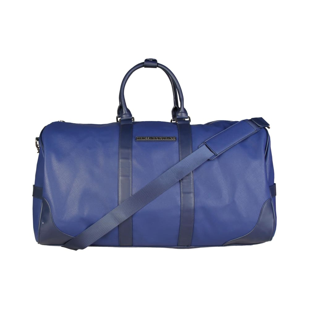 Trussardi Blue Eco Leather Luggage Bag - Bags Travel Bags