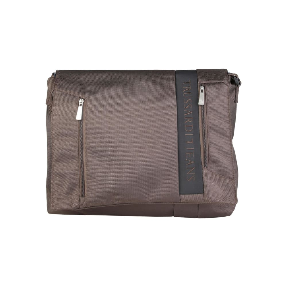Trussardi Front Laptop Bag - Brown / Nosize - Bags Briefcases