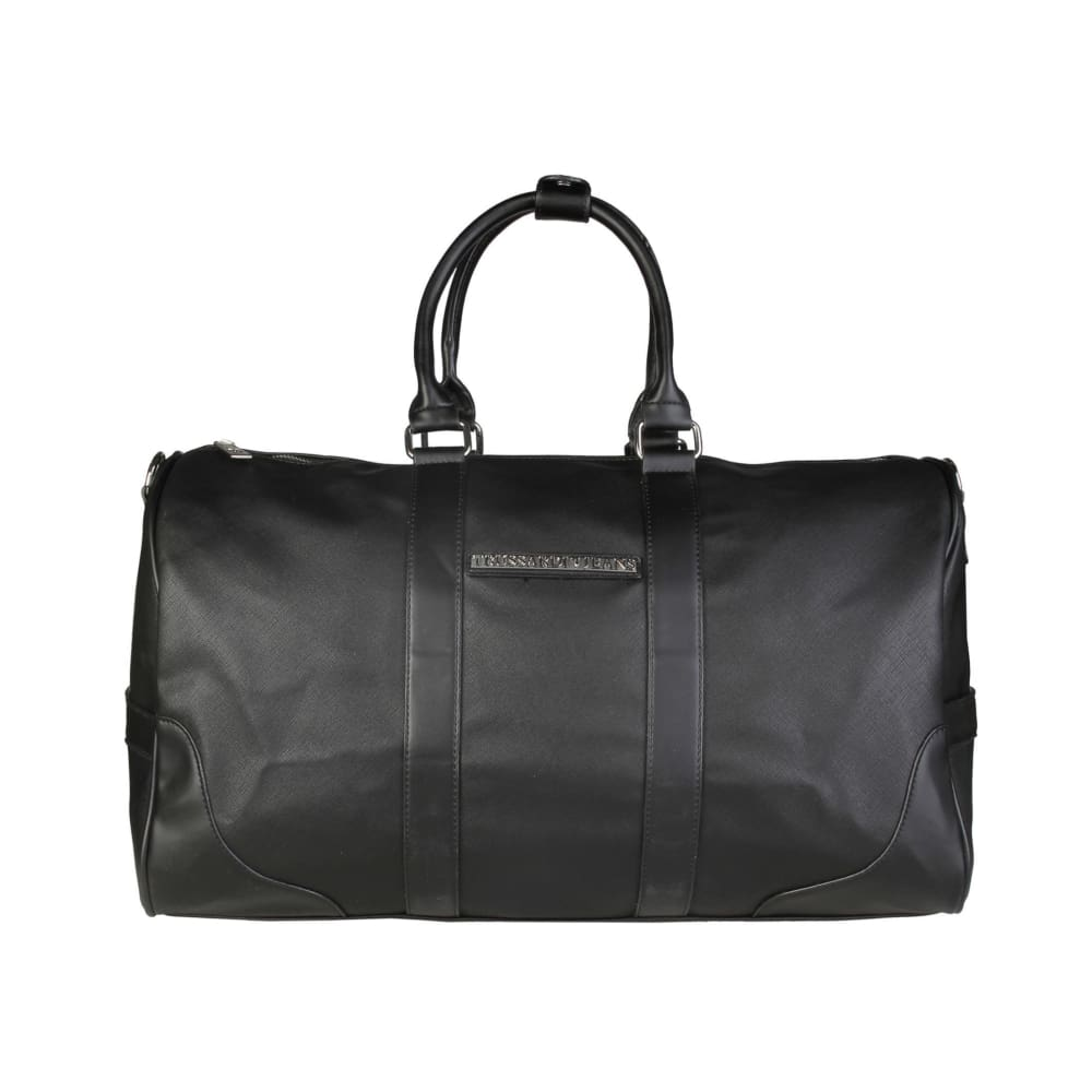 Trussardi Medium Saffino Syn Leather Ludggage - Black / Nosize - Bags Travel Bags