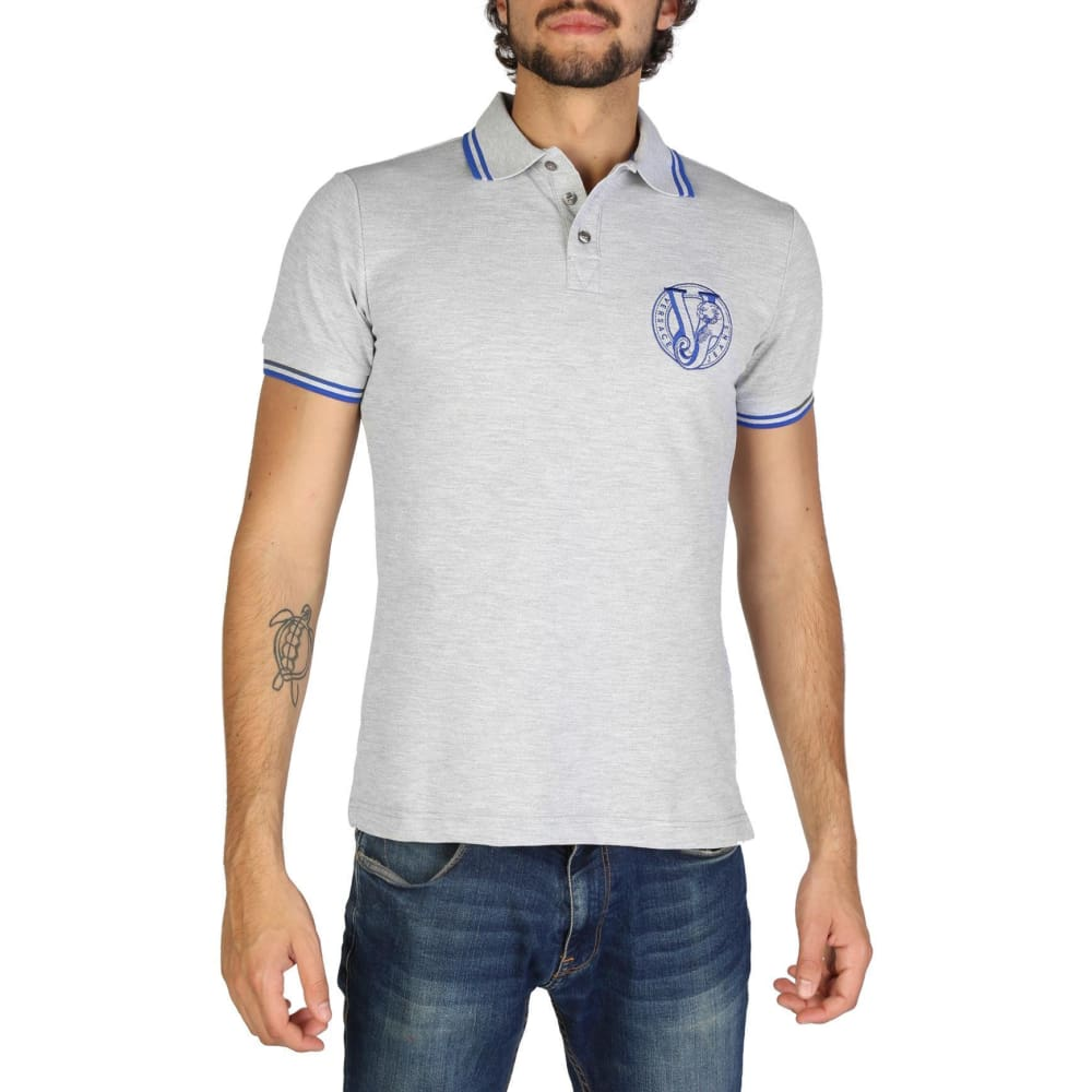 Versace Jeans - Clothing Polo - V105 - Grey / 44 - Clothing Polo
