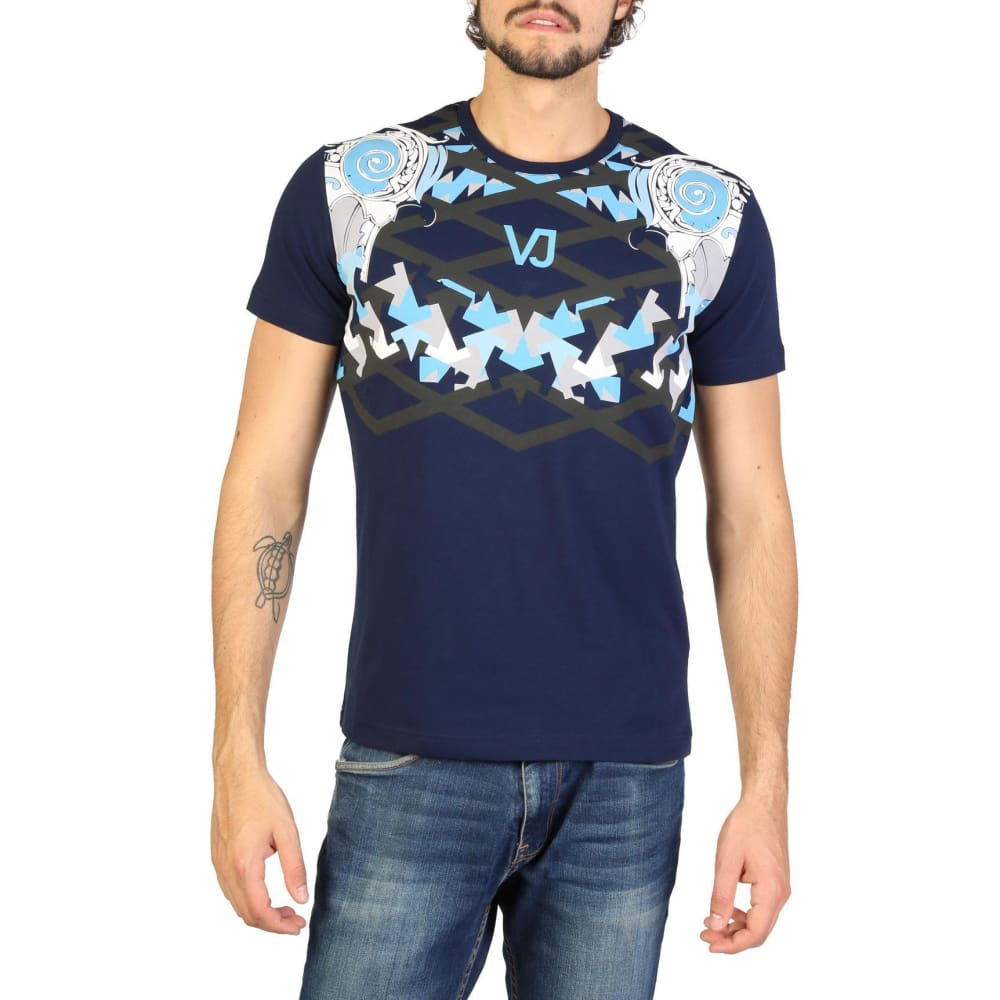 Versace Jeans - Clothing T-Shirt - V102 - Blue / S - Clothing T-Shirts