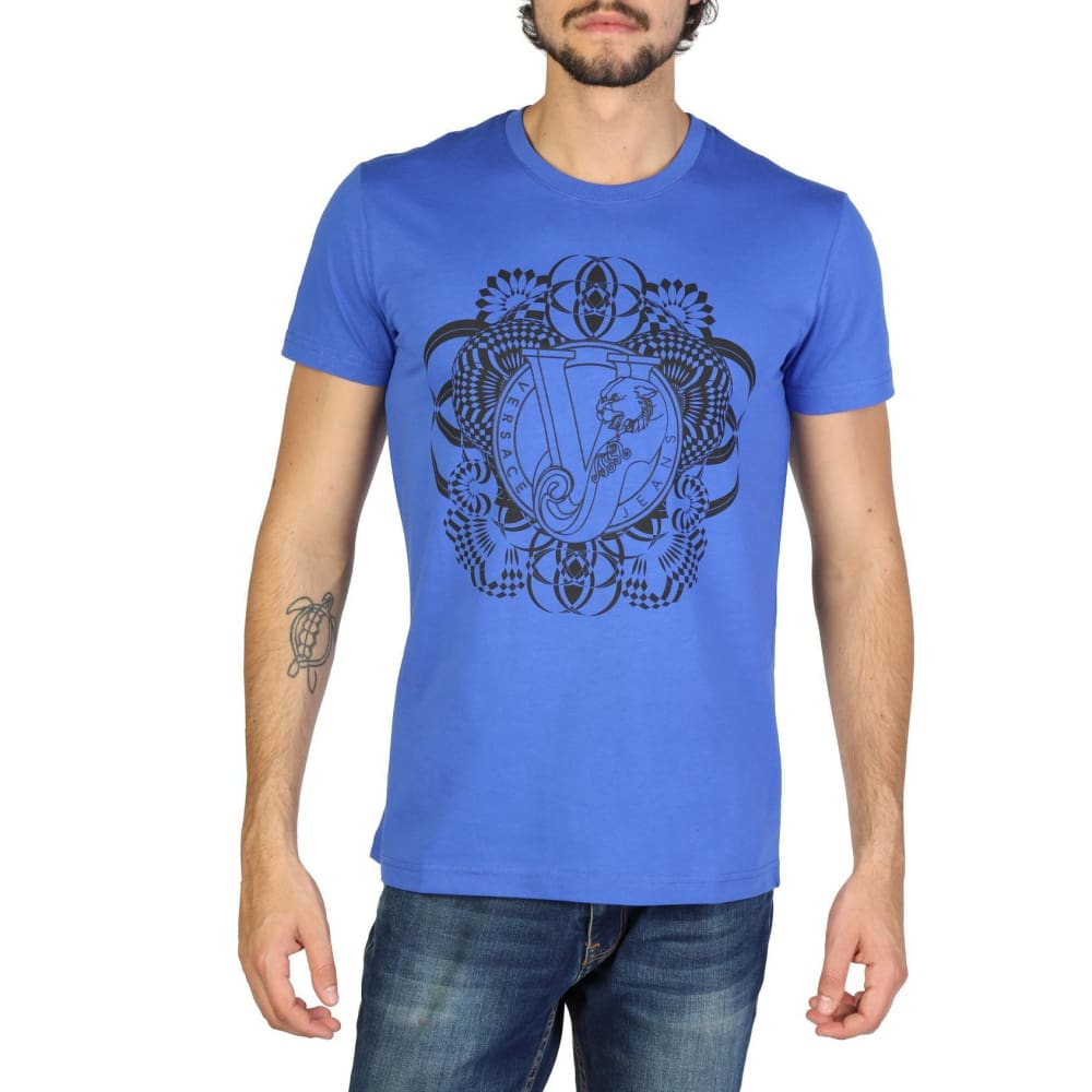 Versace Jeans - Clothing T-Shirt - V1113 - Blue / S - Clothing T-Shirts