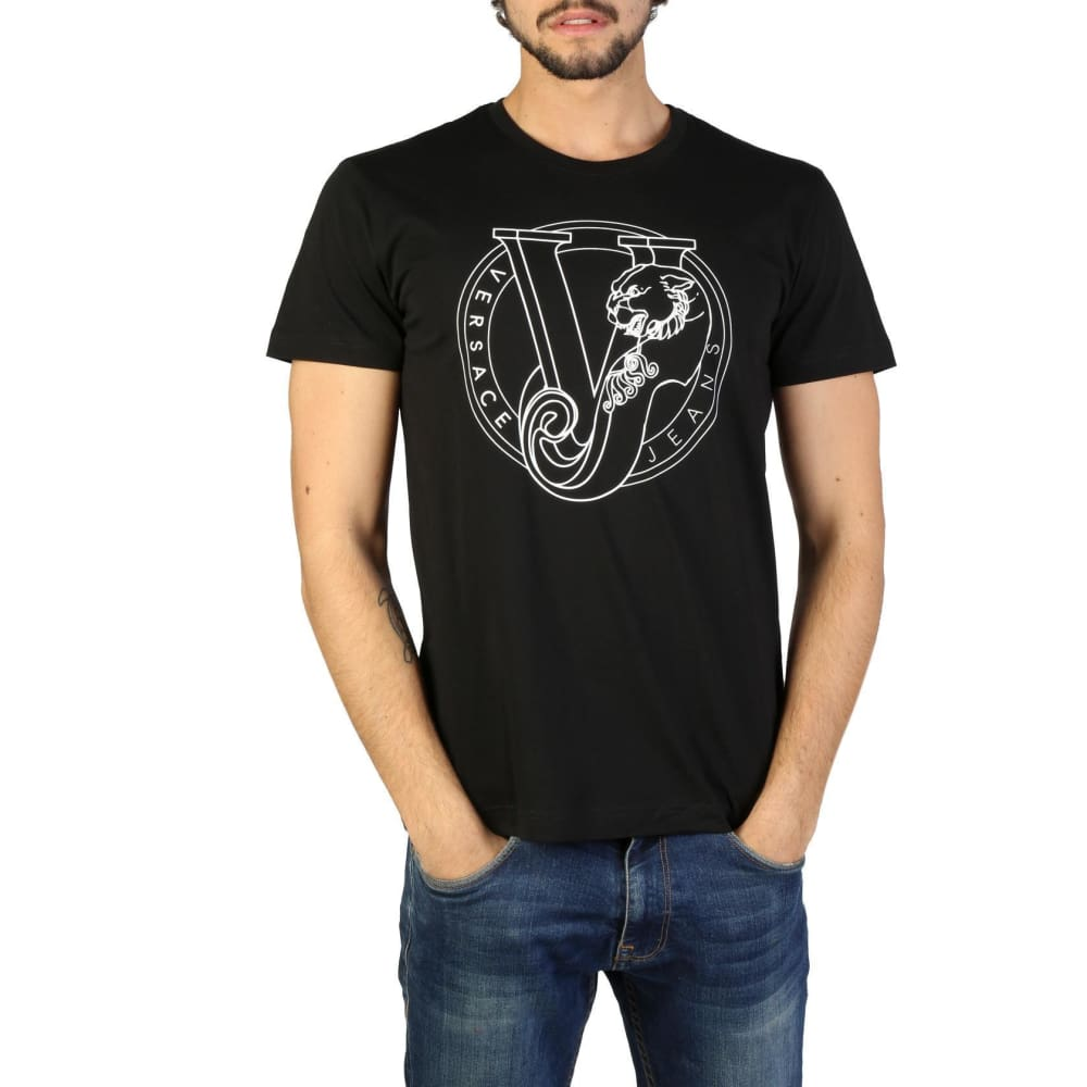 Versace Jeans - Clothing T-Shirt - V116 - Black / S - Clothing T-Shirts