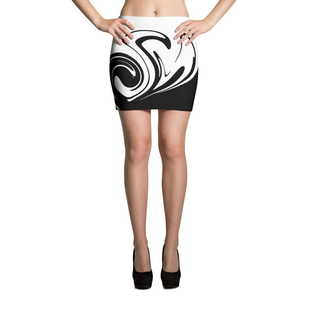 Wave Mini Skirt - Xs - Skirt