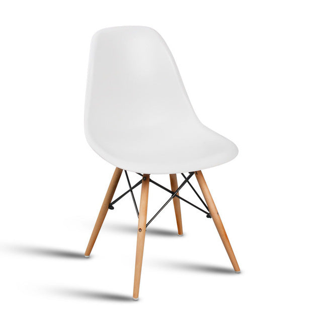 Minimalistic Simple Plastic and Wood Chair