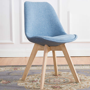 Comfy Modern Flax Fabric Chairs