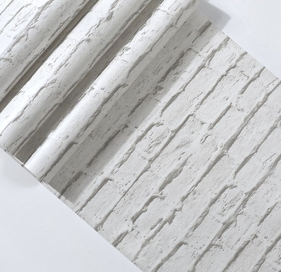 White Modern Brick Wallpaper