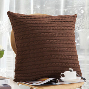 Cozy Knit Pillow Cover