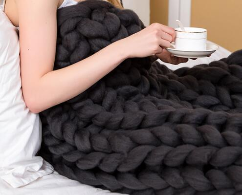 Cozy Chunky Knitted Blanket