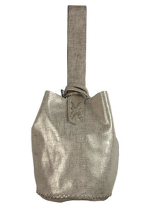 navigli bag | light gold raffia-printed leather