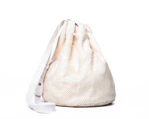 chelsea bag | razor-cut white