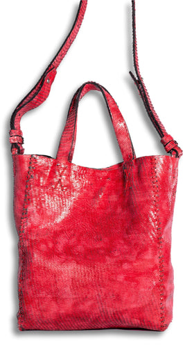 copacabana bag | red razor-cut leather