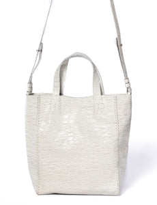 copacabana bag | off-white crocco-embossed leather