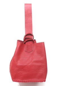 soho bag | red crocco leather