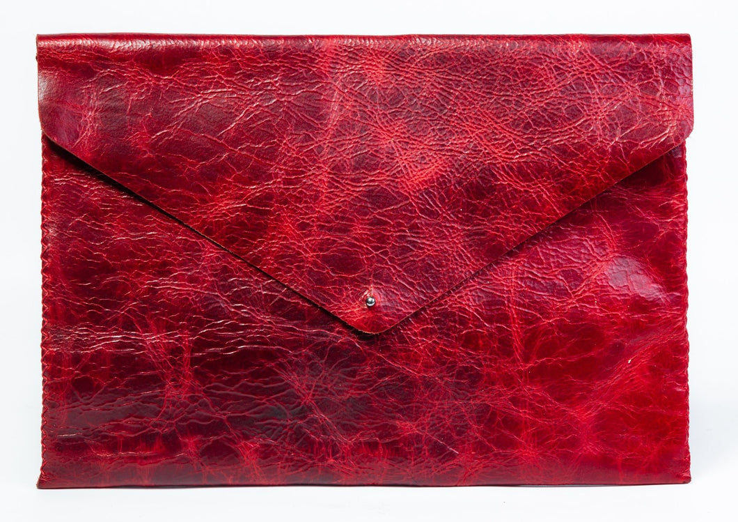 downtown case | red distressed leather