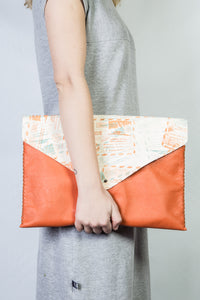 downtown case | orange leather