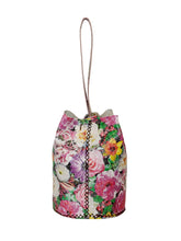 navigli bag | floral geometric-embossed leather