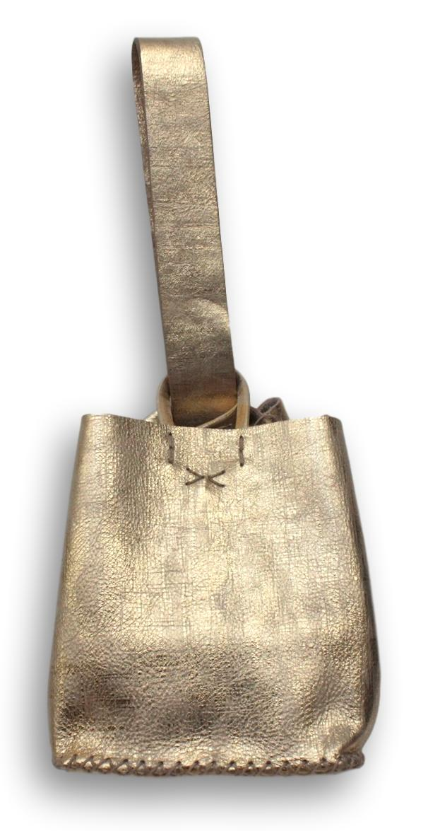 soho bag | gold distressed leather