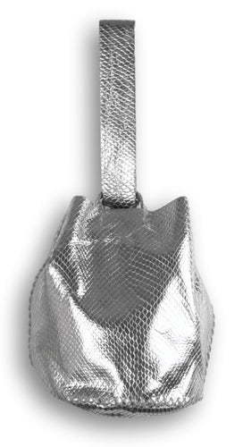 navigli bag | silver snake-embossed leather - Volta Atelier