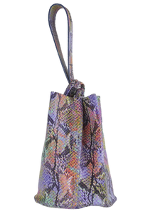 navigli bag | colorful snake-printed leather