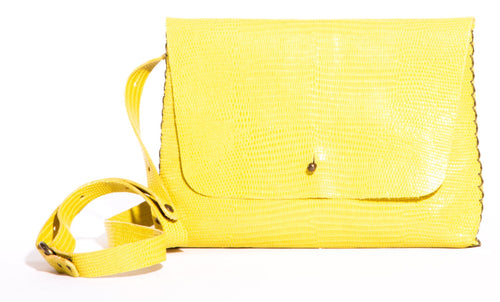 lapa bag | yellow stingray-print leather