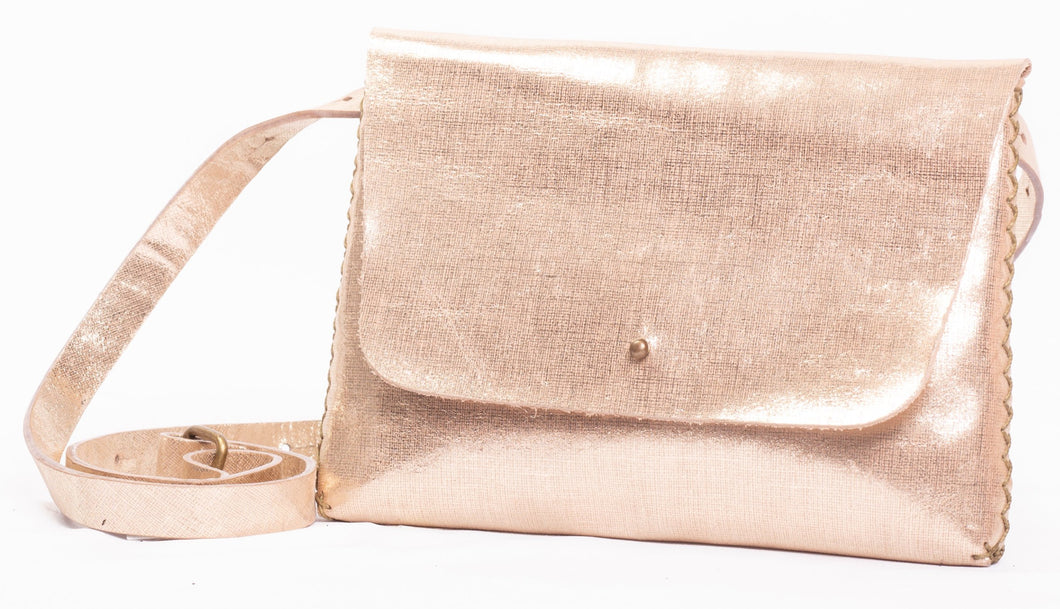 lapa bag | texture-print golden leather