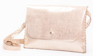 lapa bag | texture-print golden leather 2