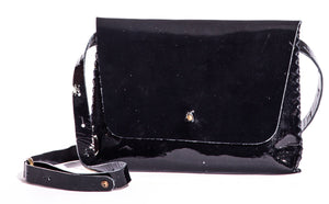 lapa bag | black patent leather - Volta Atelier
