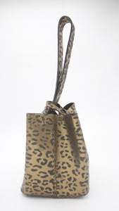 soho bag | leopard-print bronze leather