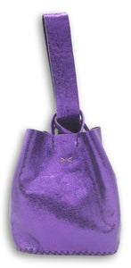 soho small bag | purple metallic craquelé leather - Volta Atelier