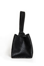 soho bag | black snake-embossed leather - Volta Atelier