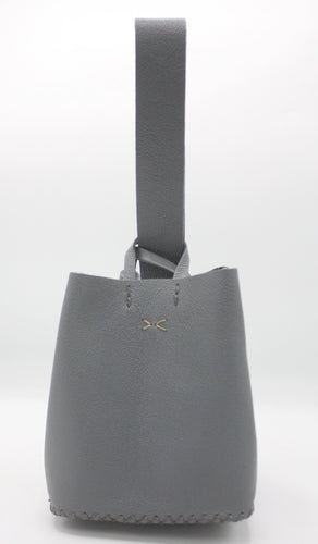 soho small bag | gray leather - Volta Atelier