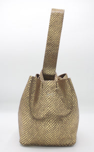 soho bag | vintage dark golden printed leather