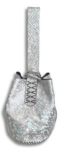 navigli bag | mother of pearl print - snake-embossed leather - Volta Atelier