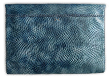 downtown case | blue snake-embossed leather