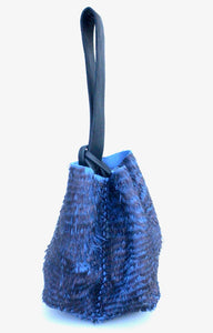 soho bag | 3D metallic blue leather