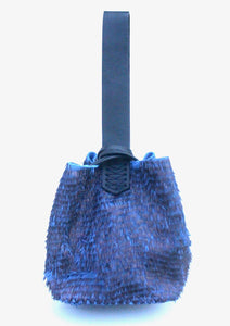soho bag | 3D metallic blue leather - Volta Atelier